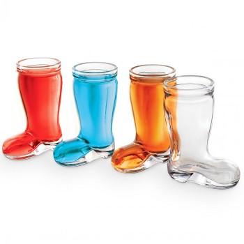 Стъклени шот чашки във формата на ботуш