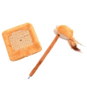 Забавна котешка играчка - мишка с чесалка
