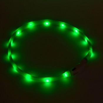 Голям силиконов нашийник с LED лампи за кучета и котки