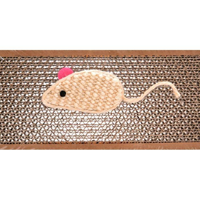 Забавна играчка за котка - мишка с чесалка