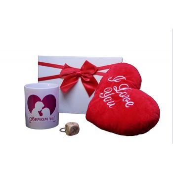Подаръчен комплект в луксозна кутия за влюбени