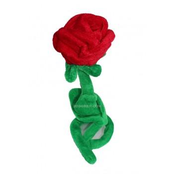 Голяма плюшена червена роза – подарък за жена