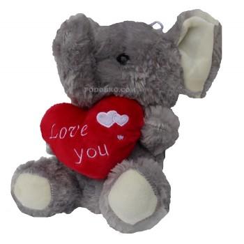 Плюшена играчка слон със сърце – подарък за Свети Валентин