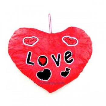 """Подарък за Свети Валентин - плюшена възглавничка сърце """"You love me"""""""
