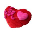 Голяма възглавничка с розови сърца