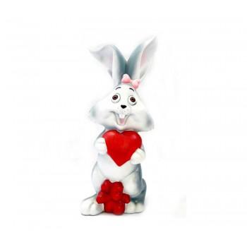 Заек със сърца - касичка за влюбени