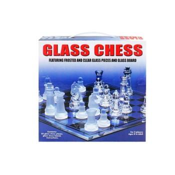 Стилен стъклен шах - малък