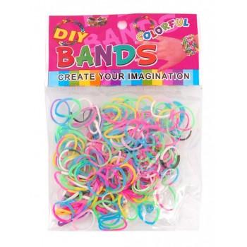 Комплект ластици за направата на гривни - трицветни