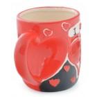 Красива керамична чаша с надпис - I ♥ U